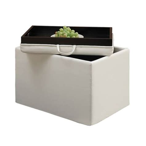 storage ottoman with serving tray storage ottomans with serving trays on sale bellacor