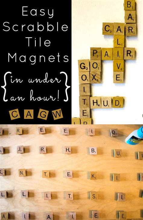 what scrabble word can i make with these letters easy diy scrabble tile magnets crafting a green world