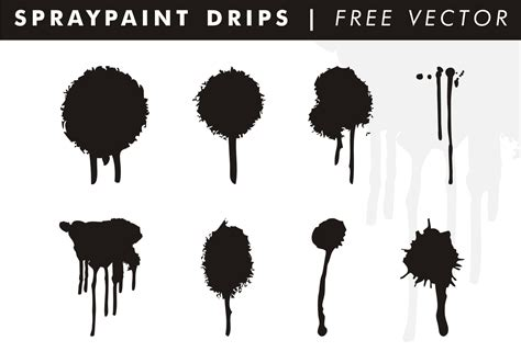 spray paint vector brush spraypaint drips free vector free vector