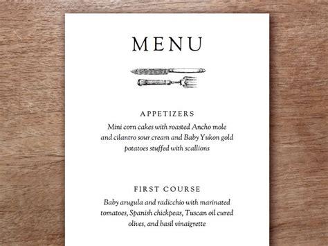 best 25 wedding menu template ideas on pinterest simple