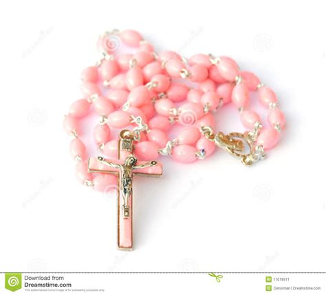 pink rosary pink rosary stock image image of cross meditation pray