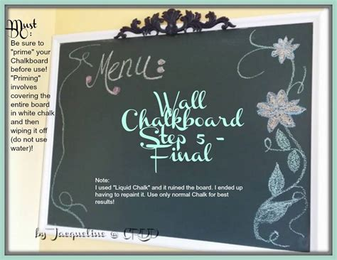 chalkboard paint not working step 5 step make sure to prime your chalkboard