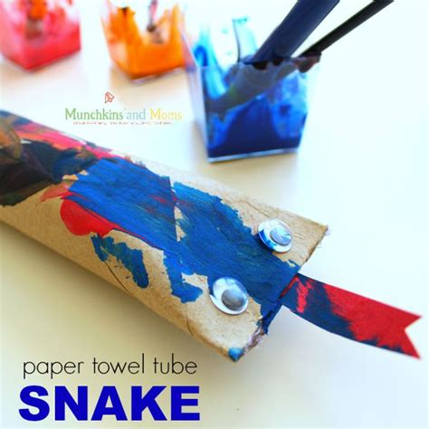 paper towel roll crafts for preschoolers paper towel snake craft munchkins and