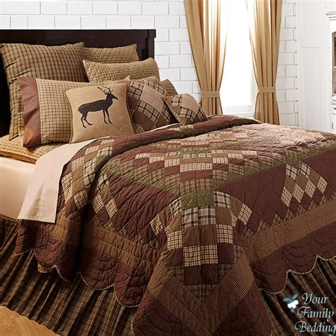 country bed sets country cabin patchwork cal king size quality