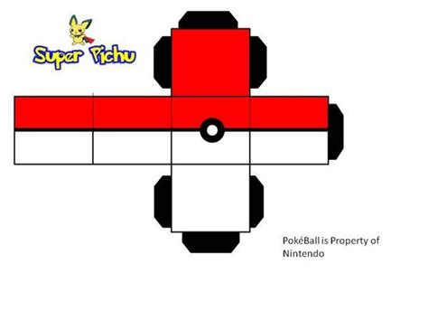 how to make a origami pokeball pokeball paper craft by pichu paper craft