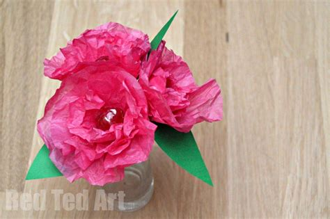 paper roses craft tissue paper flower lollipops ted s