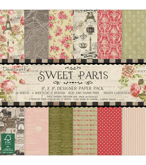 dove craft paper dovecraft sweet paper pack 8 x8 jo