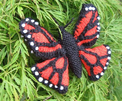 knitted butterfly monarch butterfly by ginx craft craftsy