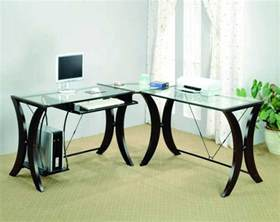 computer desk used glass l shaped desk home painting ideas within