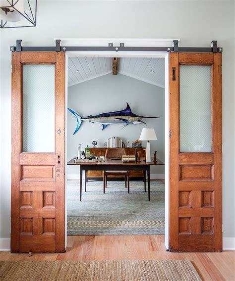 sliding door barn style 20 home offices with sliding barn doors