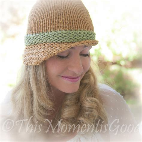 loom knitting hat brim loom knit folded brim cloche hat pattern vintage style hat