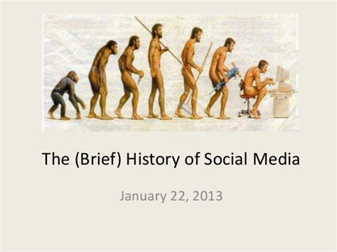 the history of the brief history of social media