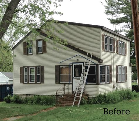 before and after cottage makeover laurel s blah brown house gets curb appeal hooked on houses