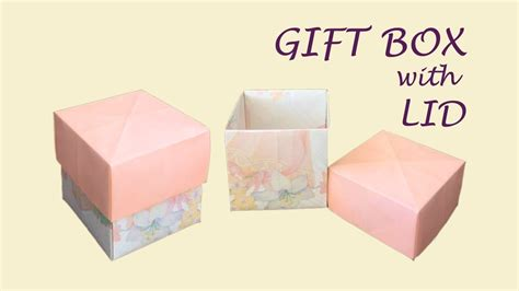 origami square box with lid diy easy origami gift box with lid cube box cool