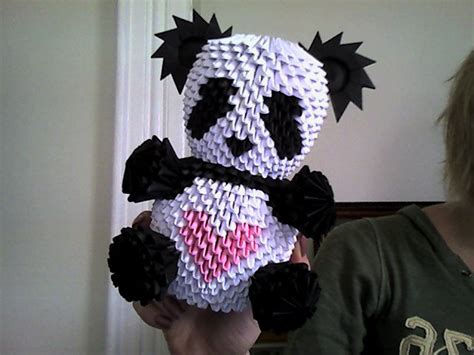 3d origami panda yet another 3d origami panda by onelonetree on deviantart