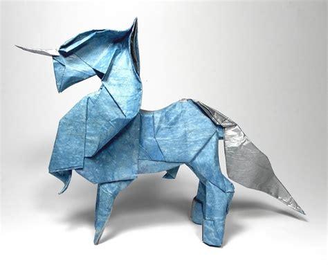 origami unicorn paper origami unicorn comot