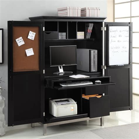 office desk armoire apartments modern home office design with black computer