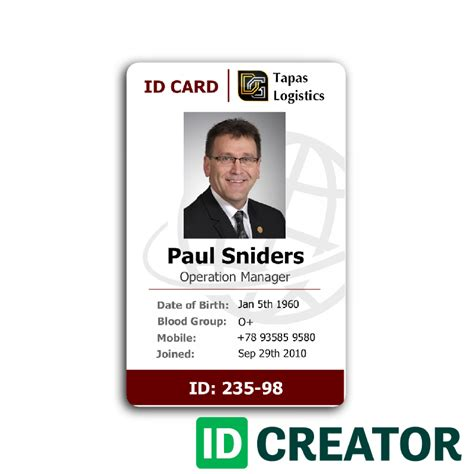 how to make company id cards professional employee id card from idcreator