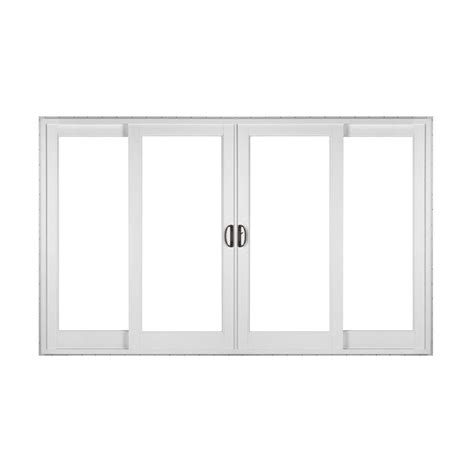 4 panel sliding patio doors simonton white 4 panel rail sliding patio door with