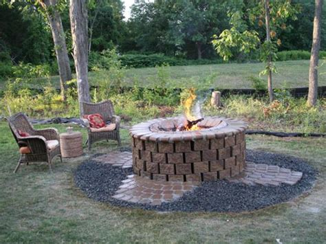 cool firepit backyard pit ideas with simple design