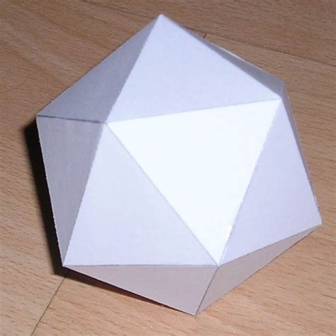 can you make origami with regular paper paper icosahedron