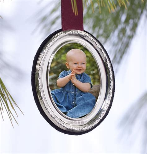 personalized silver ornaments personalized carrs sterling silver ornament oval photo