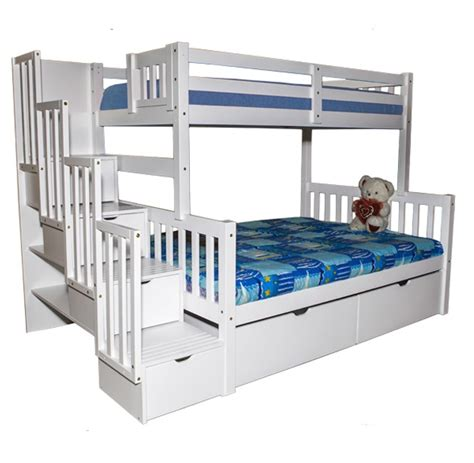 stairway bunk beds sca flamingo stairway bunk bed white