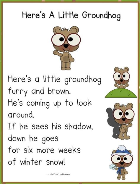 groundhog day poetry it s groundhog day 16 free ideas teach junkie