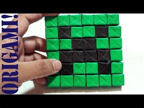 how to make a origami creeper minecraft mini creeper part 1 sonobe daily