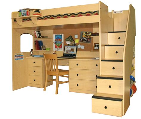 loft beds with desks woodwork loft bed with desk woodworking plans pdf plans