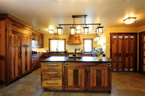 custom kitchen lighting stunning rustic kitchen cabinets with iron four ceiling