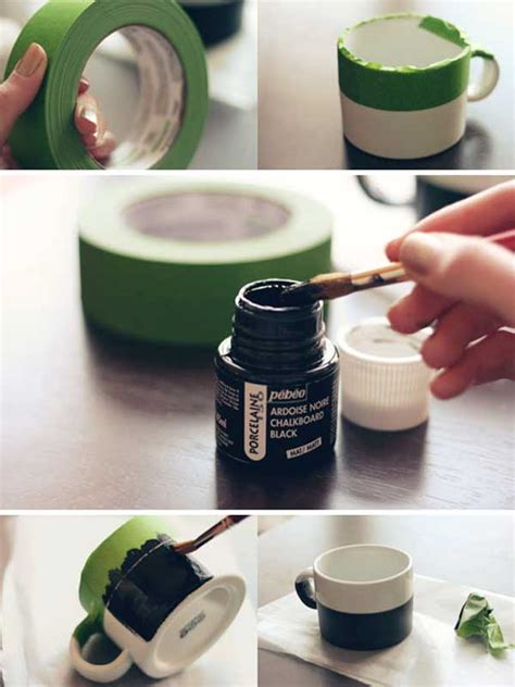 diy chalk paint mugs 22 personalized last minute diy gift ideas