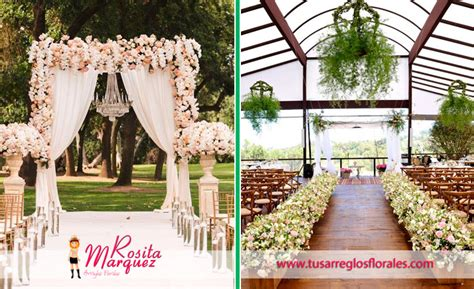 decoracion de iglesias para bodas 21 ideas arreglos florales para matrimonio y bodas fotos