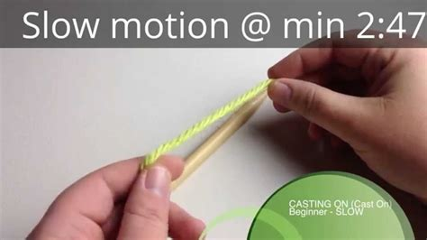 cast on cast on in motion needles knit cast on