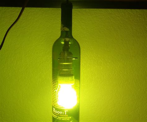 how to make a bottle l with lights make a hanging light out of a wine bottle 4