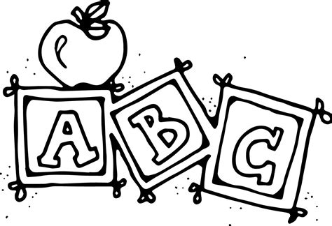 preschool for preschool abc coloring pages wecoloringpage