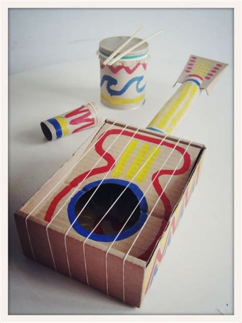 musical instrument craft for cool diy guitar musical instruments for diy