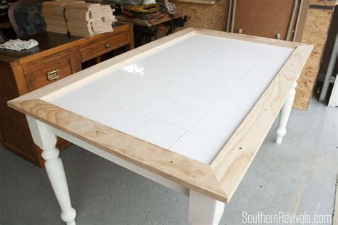 tile kitchen table tile top table makeover updating a tile top table with
