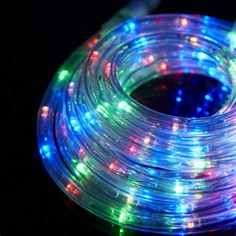 coloured rope lights rope light led 10m multi colour lighting outdoor