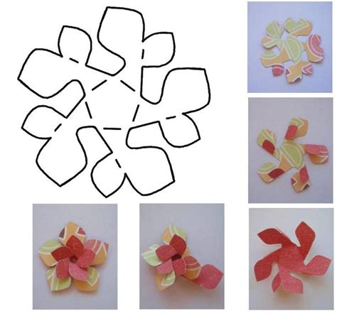 flower paper craft template folded paper flower template folded paper flower template