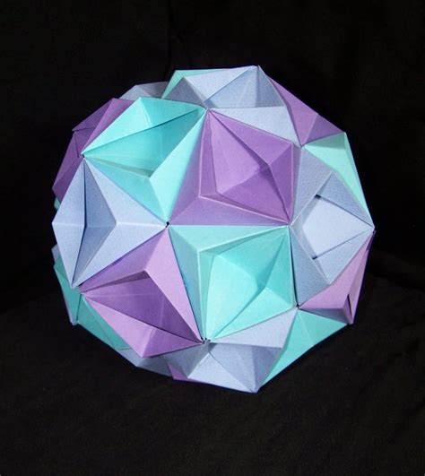 origami sphere easy specialsapid how to make an origami kusudama