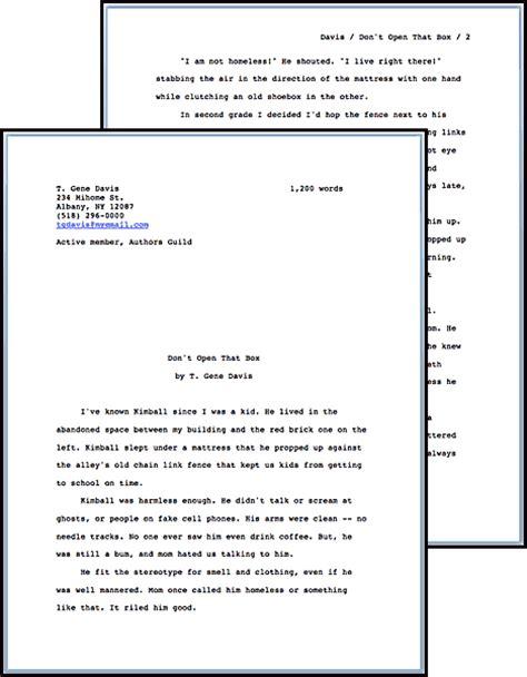 picture book manuscript format standard manuscript format t gene davis s speculative