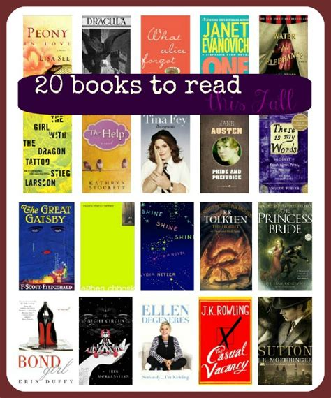 popular to read 20 books to read this fall