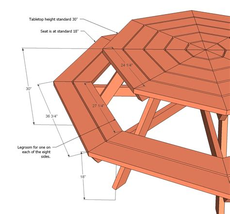 woodworking plans picnic table octagon picnic table woodworking plans woodshop plans