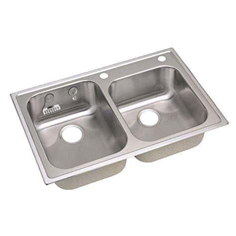 stainless steel kitchen sinks top mount elkay 20gauge stainless steel bowl top mount