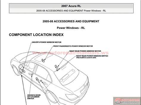 car repair manuals online pdf 2009 acura rl transmission control service manual 2005 acura rl repair manual download 2005 2007 acura rl repair shop manual
