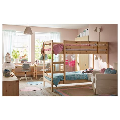 bunk bed frame mydal bunk bed frame pine 90x200 cm ikea