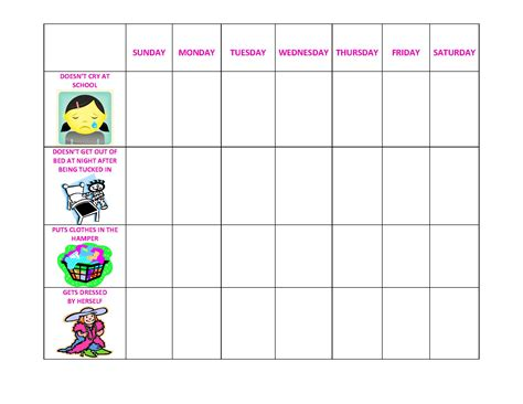 Exle Of Behavior Modification Chart by Behavior Charts For Preschool Images Frompo 1