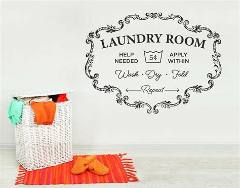 laundry room wall stickers laundry room your decal shop nz designer wall