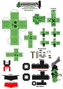 paper mind craft minecraft slime and creeper pengiun printables
